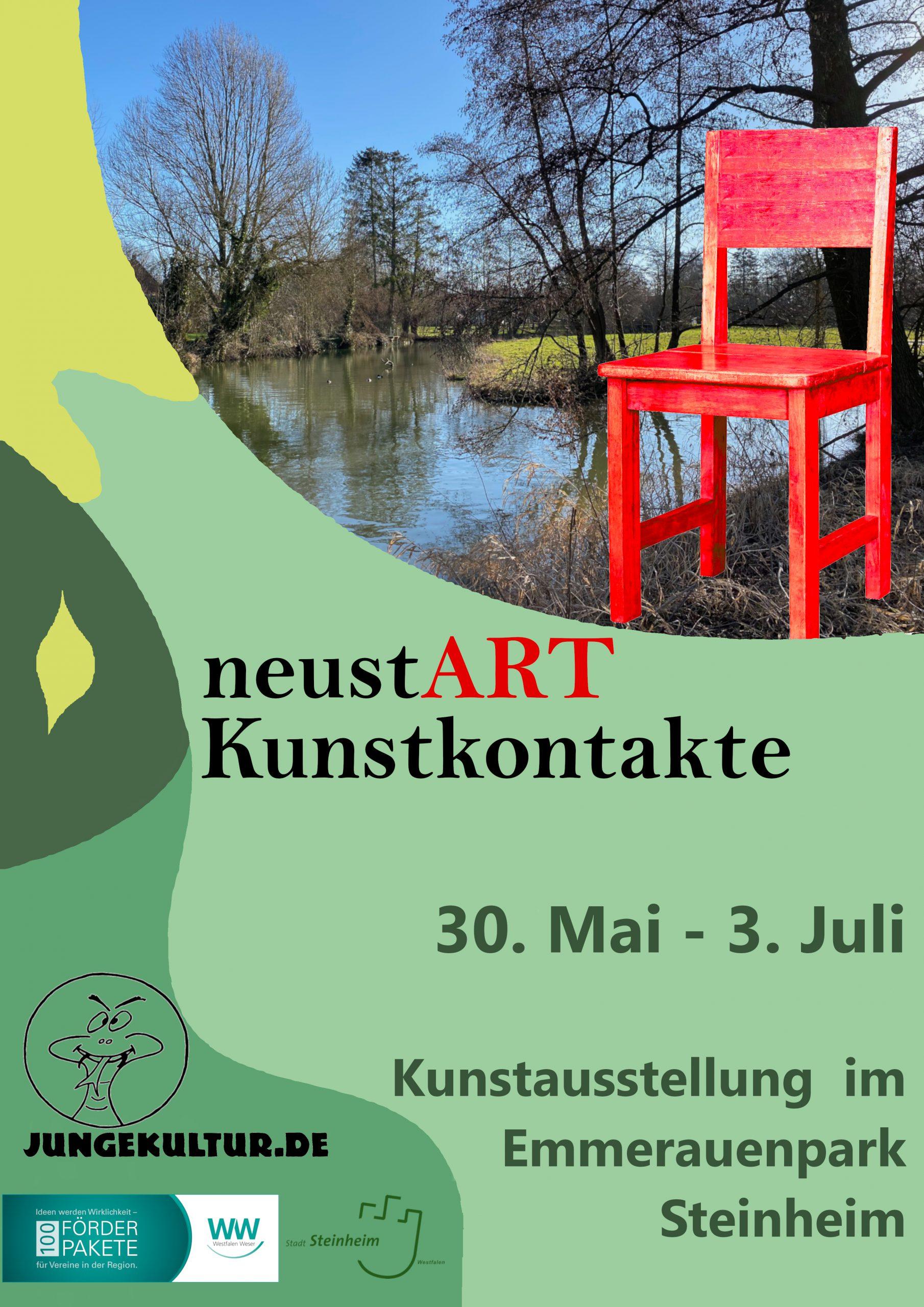 neustART Kunstkontakte 2021 - Plakat