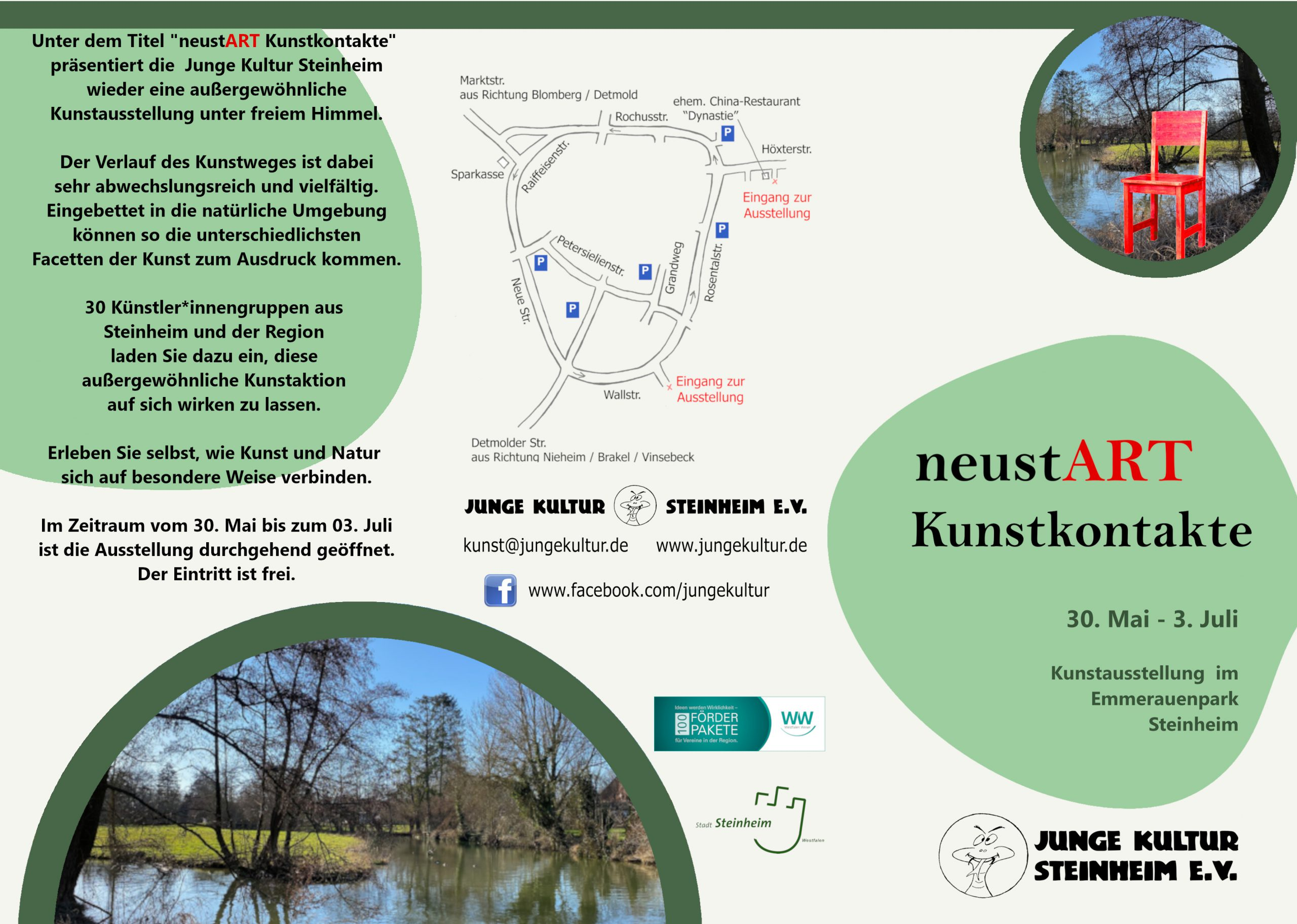 neustART Kunstkontakte 2021 - Flyer außen